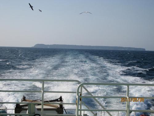 飛島の遠景
